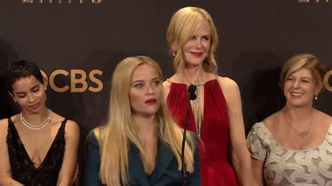 Emmy Awards: Big Little Lies Cast Backstage Interview 2017 ...