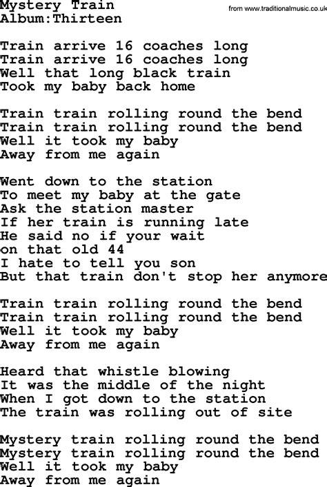 Emmylou Harris song: Mystery Train, lyrics