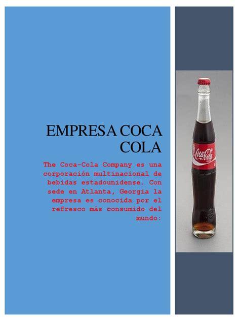 empresa coca cola | Coca Cola | Planificación