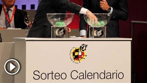 En directo: el sorteo del calendario de la Liga Santander ...