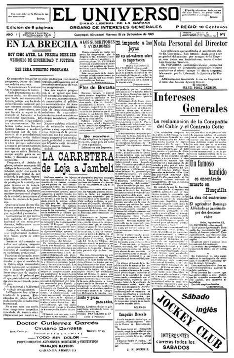 En la brecha , el primer editorial de EL UNIVERSO ...