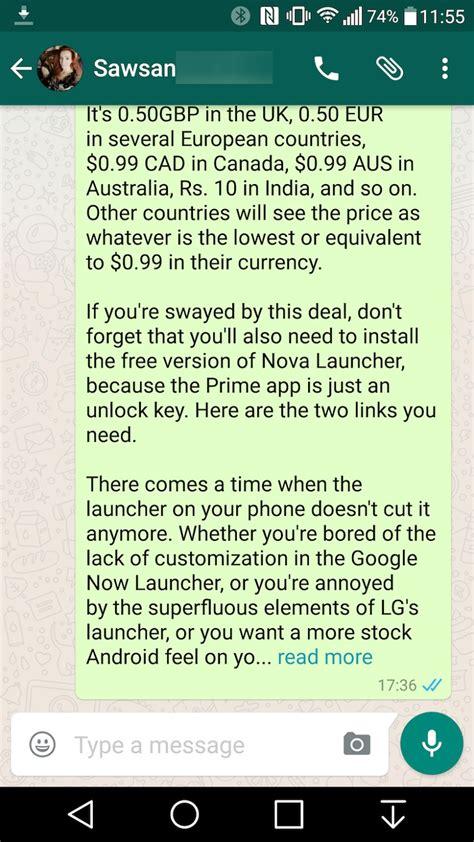 En la nueva versión de WhatsApp, los mensajes demasiado ...