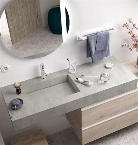 Encimera mueble baño compakt cemento lavabo integrado   a ...