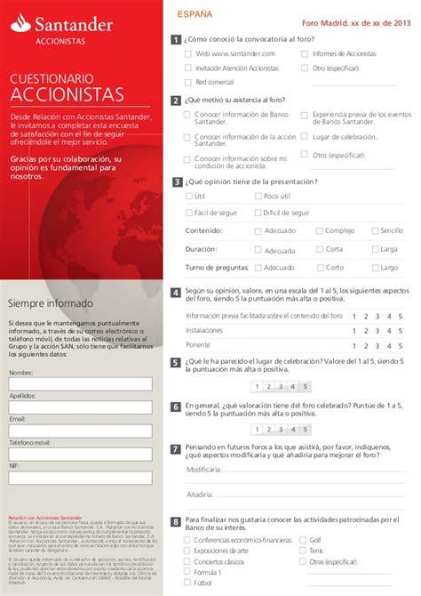 Encuestas realizadas por Relación con Accionistas