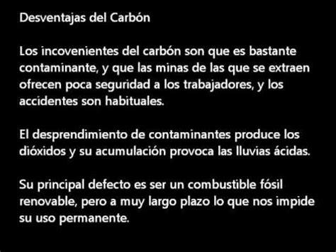 Energía no renovable carbón Barros Bastias   YouTube