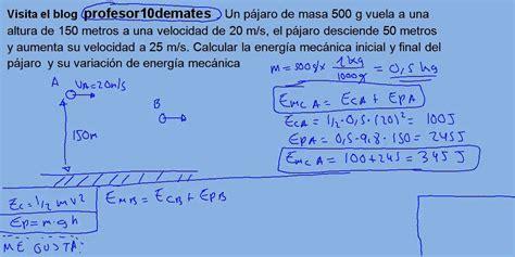 Energía y trabajo 14 energía mecánica ejercicio 01   YouTube