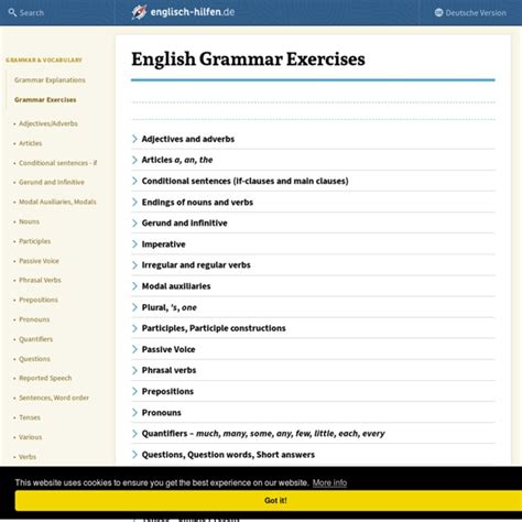English Grammar Exercises | Pearltrees