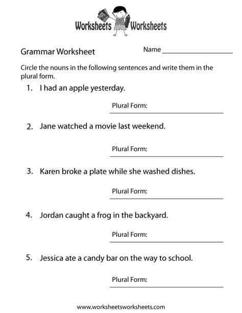 English Grammar Worksheet   Free Printable Educational ...