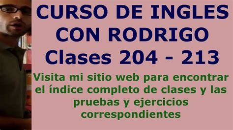English online   Curso ingles gratis   Clases 204 213 ...
