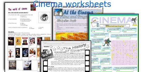 English teaching worksheets: Cinema