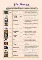 English worksheet: Film Genres   teaching English ...