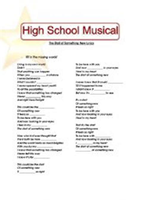 English worksheets: High School Musical  Start of ...