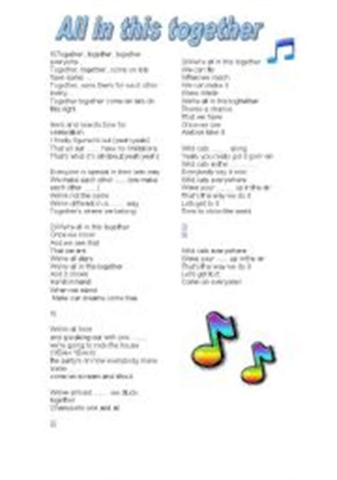 English worksheets: Song: All in this together  High ...