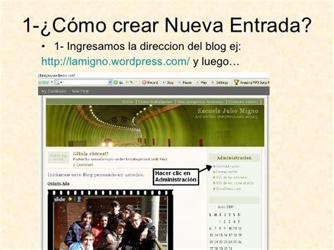 Entrada En Wordpress