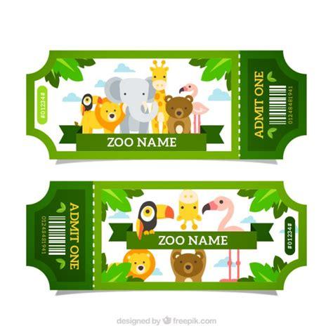 Entradas de zoo verdes con animales   Descargar Vectores ...