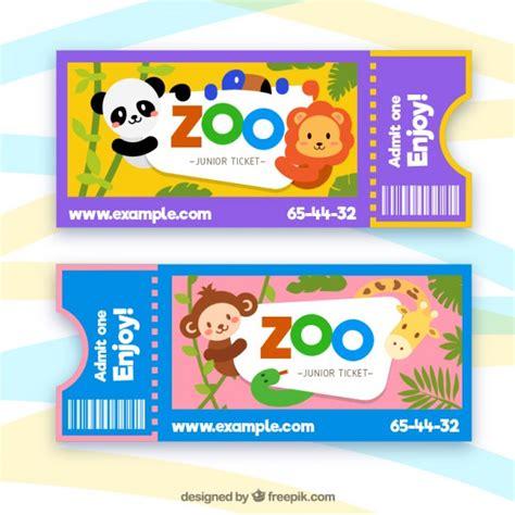 Entradas para el zoo con animales de dibujos   Descargar ...
