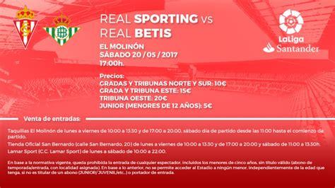 Entradas Sporting Real Betis   Sporting   Web Oficial