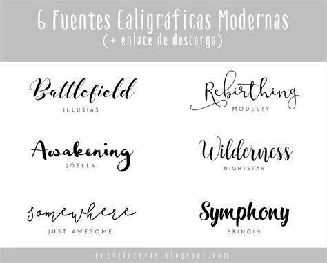 Entre Letras: SEIS FUENTES CALIGRÁFICAS MODERNAS FAVORITAS ...