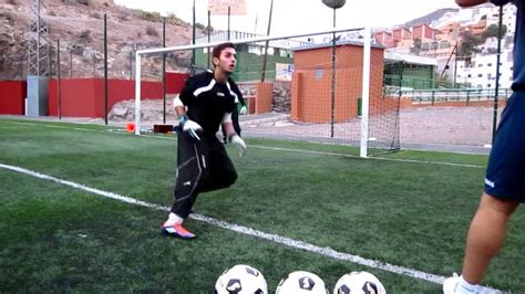 ENTRENAMIENTO PORTEROS FUTBOL 1/6 goalkeeper training ...
