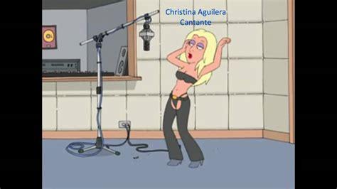 Entrevista a dibujos animados acerca de Christina Aguilera ...