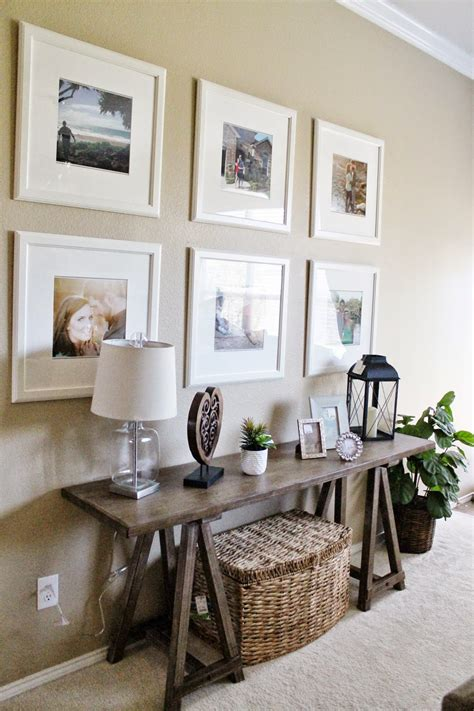 Entry way   Living Room Decor // Ikea Picture Frame ...