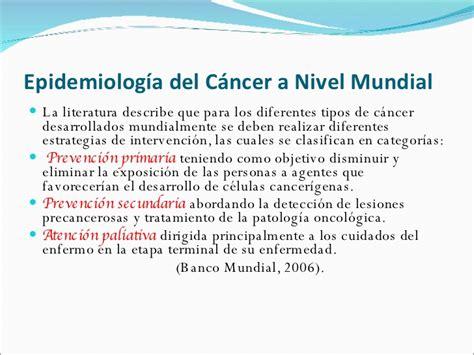 Epidemiología del Cáncer Dra. Ana Benavente