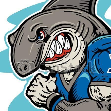 EPS Vector of shark football player   mean shark football ...