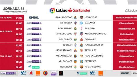 Equipos Primera División   La Liga Santander: Horarios de ...