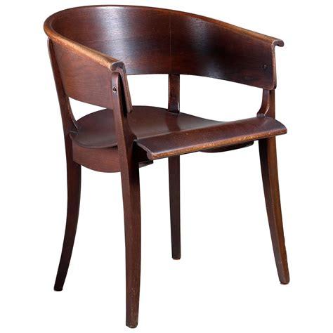 Ernst Rockhausen Bauhaus Style Plywood and Oak Chair ...