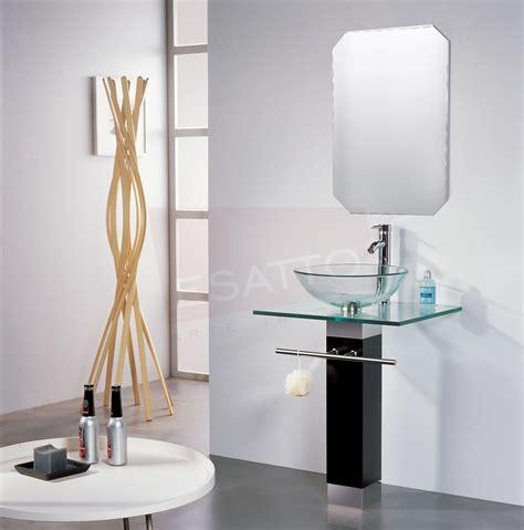 Esatto  Mueble De Baño Lavabo Cristal Cromo Espejo Mv 003 ...