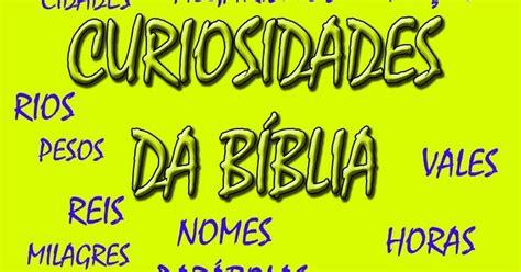 ESBOÇOS DE SERMÕES: CURIOSIDADES BÍBLICAS   RESUMO DOS ...