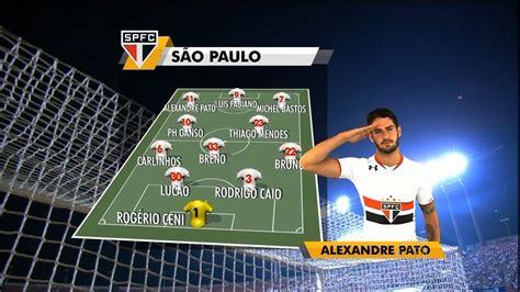 Escalação com Hino: São Paulo  Rede Globo    YouTube