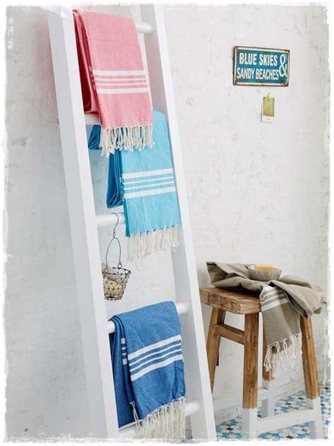 escaleras de madera toallero para decorar baños comprar ...