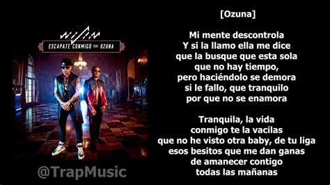 Escápate conmigo   Wisin ft. Ozuna [LETRA KARAOKE]   YouTube