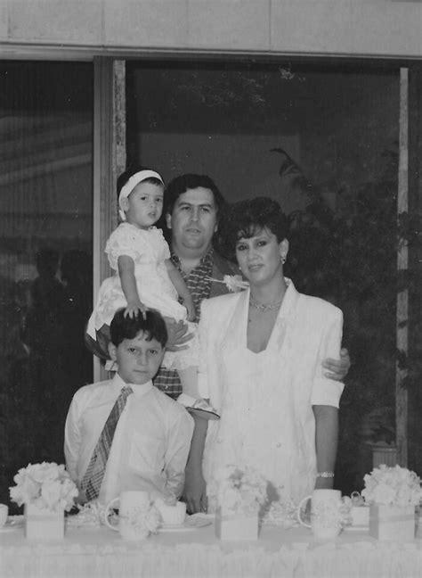 Escobar s family photo; Pablo Escobar holding Manuela ...