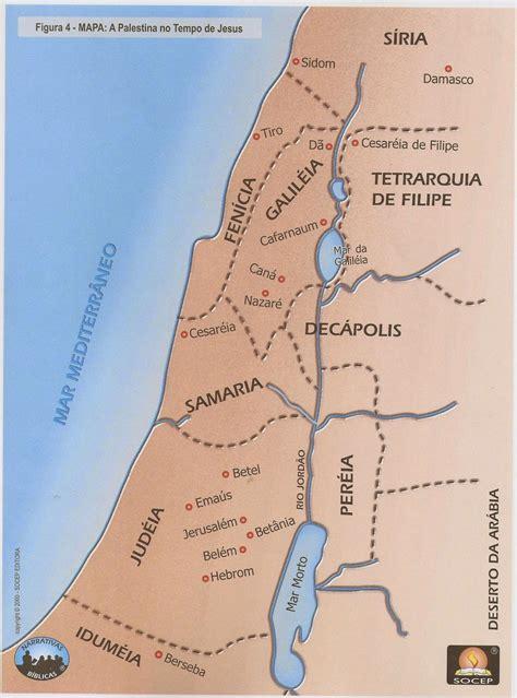 Escola Dominical Infantil: Mapa: A palestina nos tempos de ...