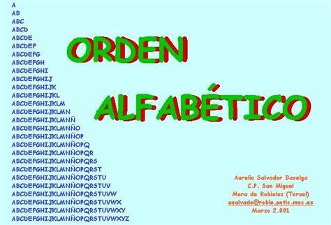 escolar34: ORDENAR ALFABÉTICAMENTE