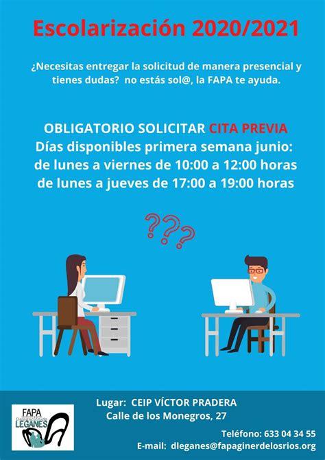 Escolarización 2020/2021 – Asociación Vecinal Zarzaquemada