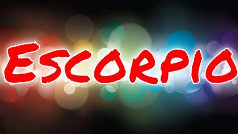 Escorpio Horoscopo 9 de Enero al 15 de Enero 2020   YouTube