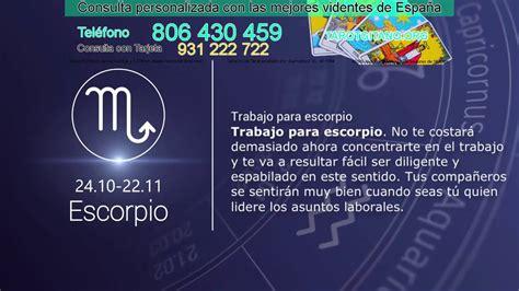 Escorpio Horóscopo diario gratis del dia de hoy 05 10 2016 ...