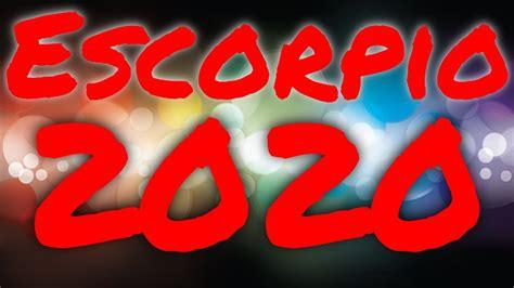 Escorpio Horoscopo Predicciones para el 2020   YouTube
