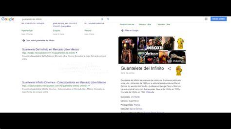 Escribe  Thanos  o  Guantelete del infinito  en Google y ...