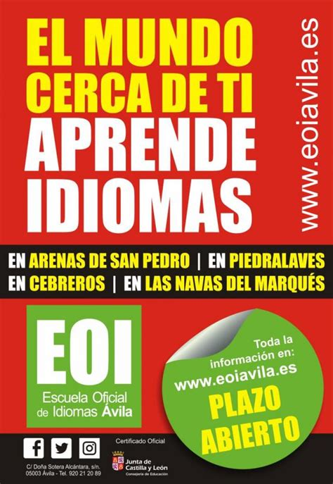 Escuela Oficial de Idiomas   Ayuntamiento de Piedralaves
