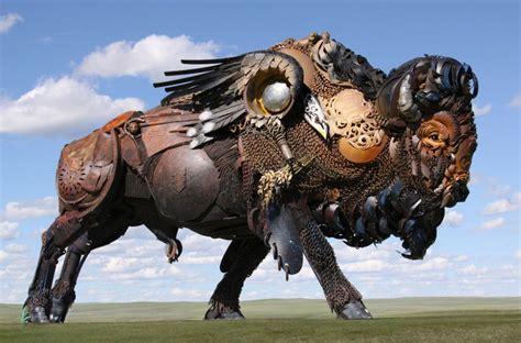 Esculturas increíbles hechas con desechos de maquinaria ...