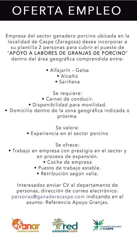 eshijar : OFERTA DE EMPLEO : 2 PERSONAS PARA CUBRIR EL ...