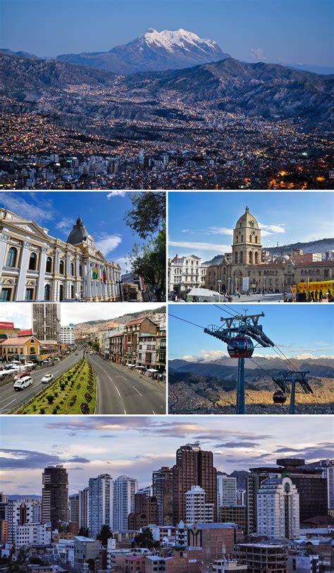 Esos son fotos de La Paz, el capital de Bolivia. Sabías ...