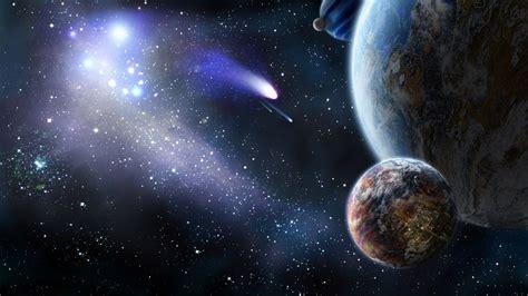 Espacio cometa planeta tierra luna naturaleza universo ...