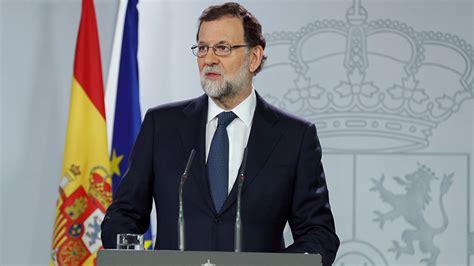 España: Rajoy pide calma y dice que el gobierno tomará ...