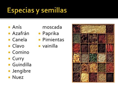 Especias y condimentos[1]