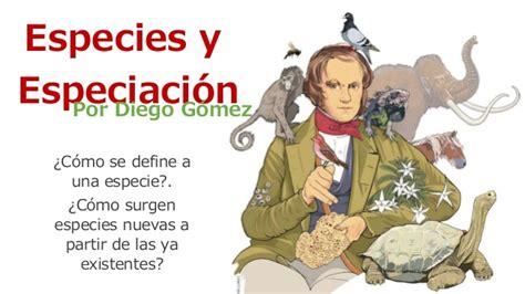 Especies y especiación